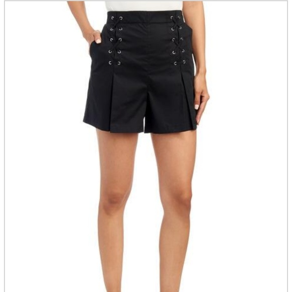 Laundry By Shelli Segal Pants - Laundry by Shelli Segal Lace up Popplin Shorts
